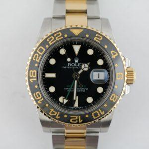 Rolex GMT Master II 116713LN 2-Tone Black Ceramic Bezel & Dial Oyster Band 2011
