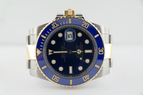 Rolex Submariner 116613LB Two-Tone Blue Ceramic Bezel & Sunburst Dial 40mm