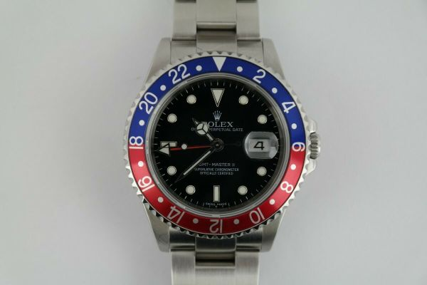 Rolex GMT-Master II 16710T Black Dial Pepsi Red & Blue Bezel Insert Oyster Band