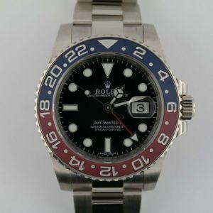 Rolex GMT-Master II 116719BLRO Pepsi 18K White Gold Black Dial