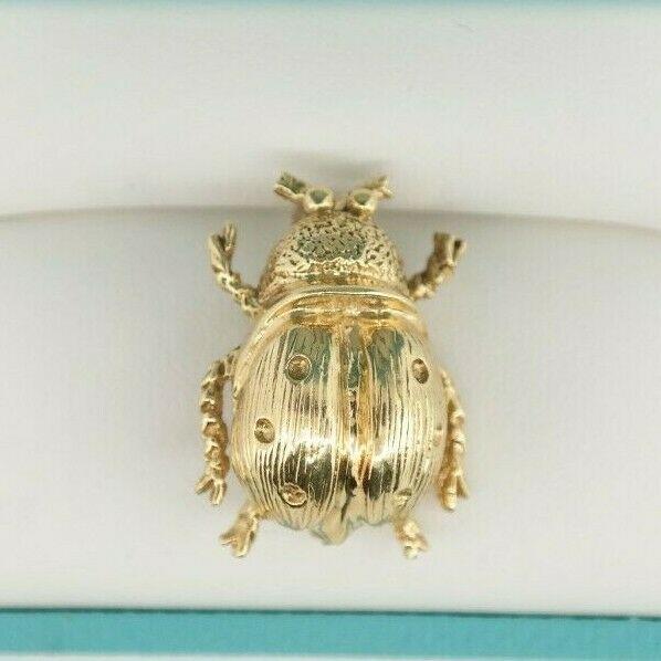 14K Yellow Gold Ladybug Pin / Brooch
