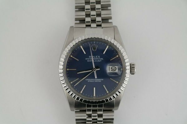 Rolex DateJust 36mm With Blue Index Dial