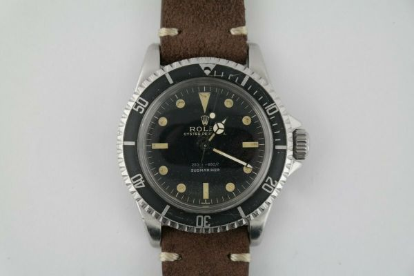 Vintage Rolex Submariner 5513 No Date Meters First Black Gilt Dial 40mm