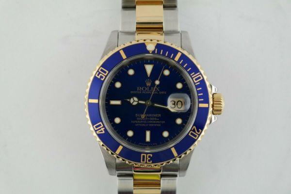 Rolex Submariner 16613 Blue Dial & Bezel TwoTone 18K & Stainless Steel
