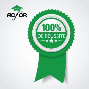 100 % reussite au bac pour ACFOR Formation