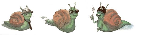 Des escargots