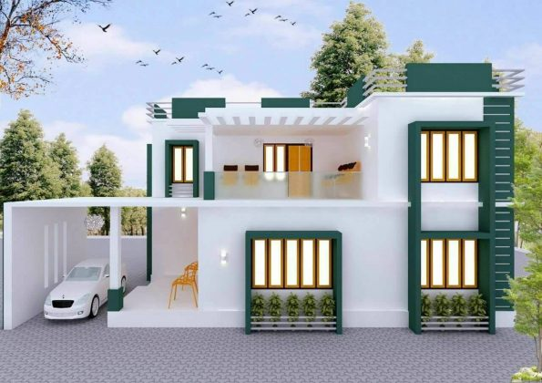 3bhk Modern House Plan Ideas India Construction Service