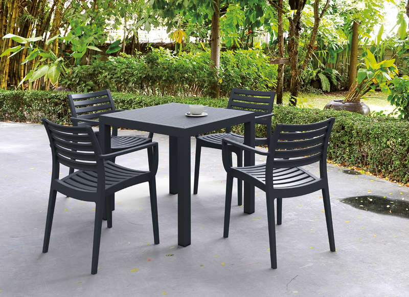 Table de jardin carr    e design gris fonc     Ares     Table jardin carr    e Gris fonc     ARES CARREE