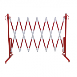 barriere extensible rouge et blanche