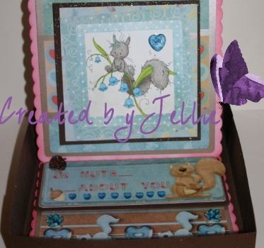 Box for Birthday card for hubby!!