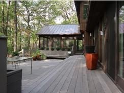 photo of exterior of enclosed porch