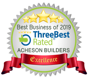 illustrated badge award art and text Three Best Rated 2018 best business of 2019