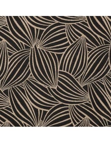 tissu cacao thevenon noir et ficelle