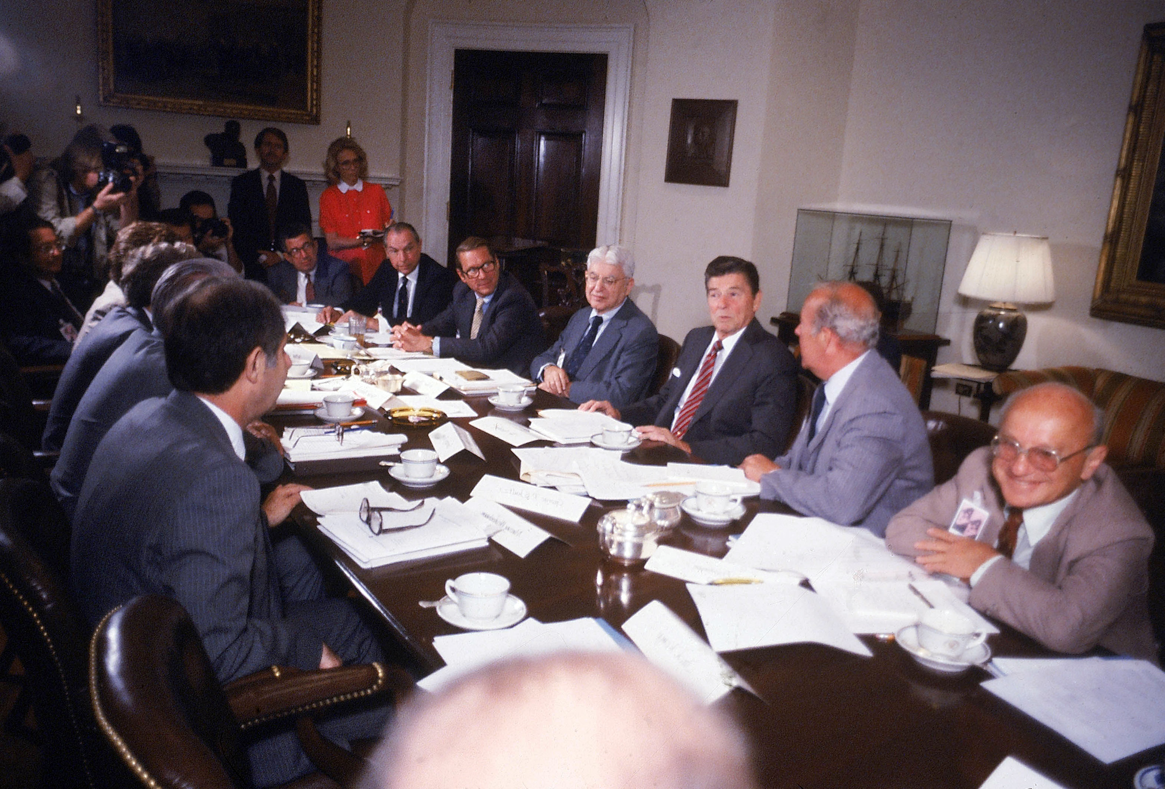 Image result for ronald reagan white house milton friedman