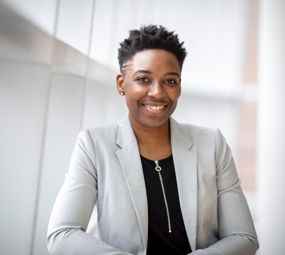 Afro-american woman in a suit