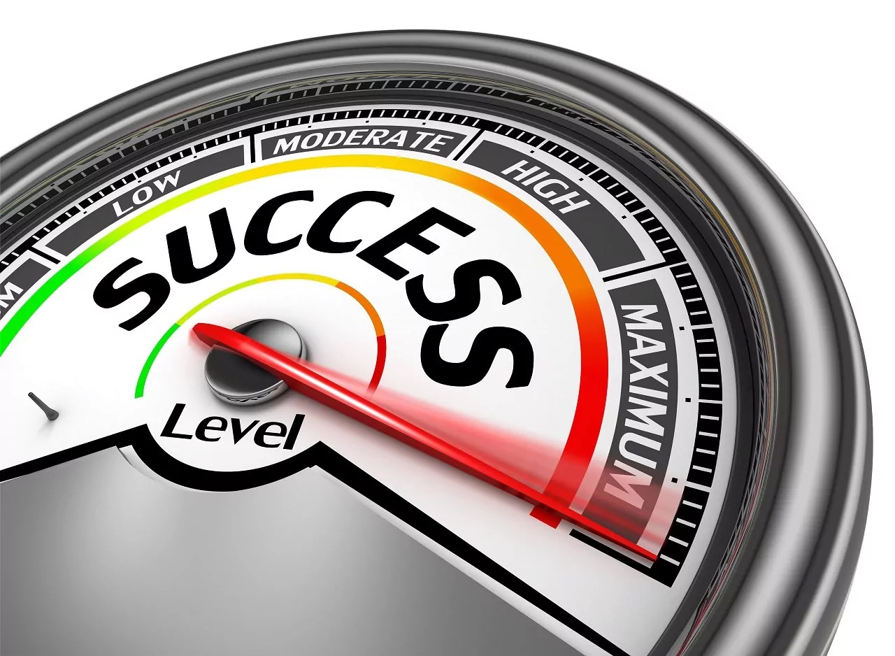 A meter of maximum success