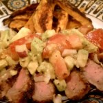 Dry Rub Steak with Avocado Salsa