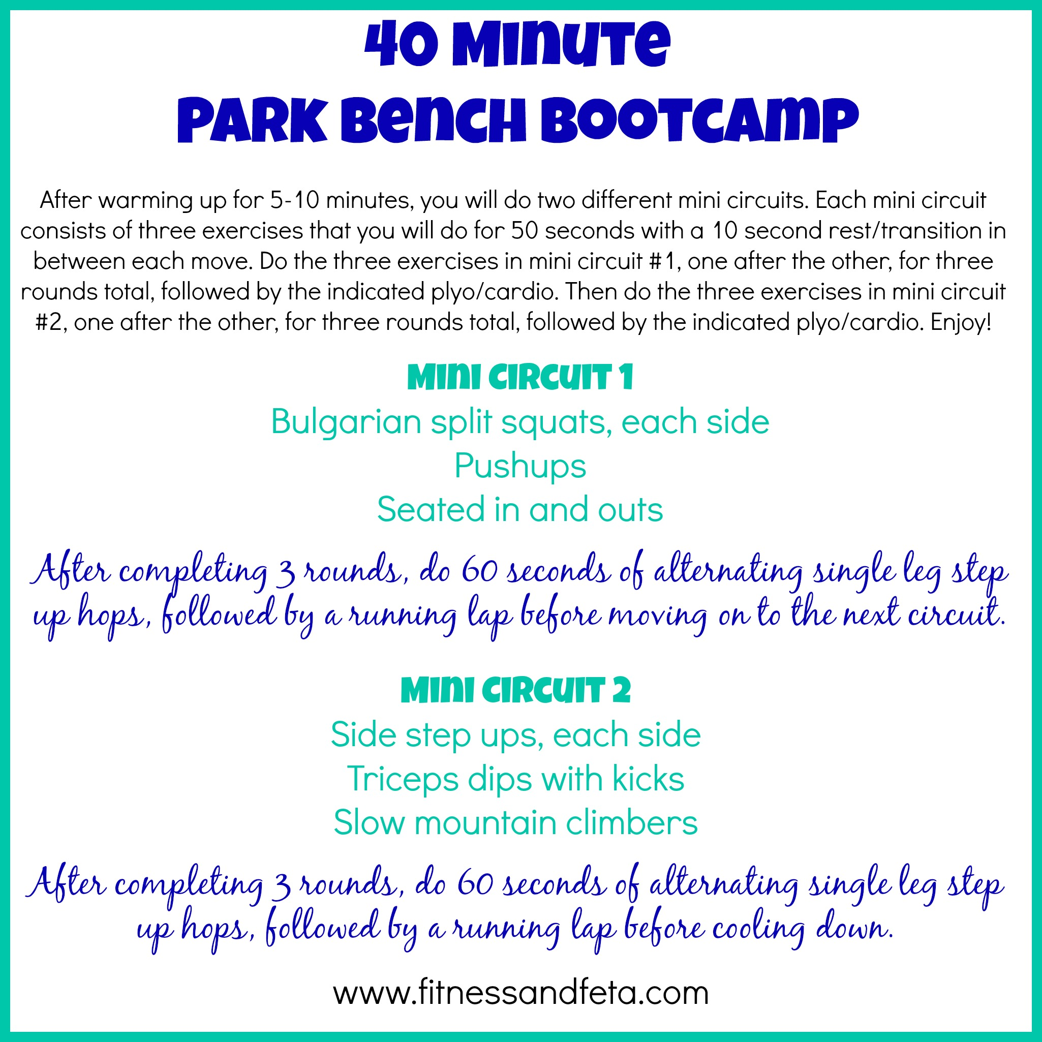 Park Workout 5 Exercises You Can Do At The 7612902 13 Killer Circuit Workouts Home Minqcom 40 Minute Bench Bootcamp Achieve With Athena