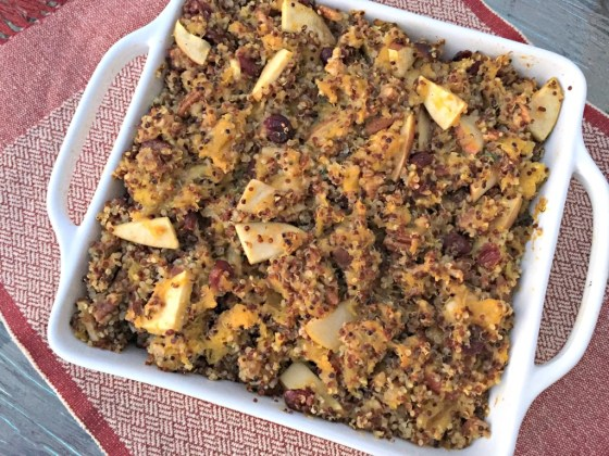 Acorn Squash and Apple Quinoa Bake
