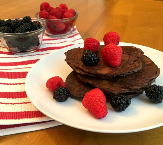 Triple Chocolate Protein Pancakes
