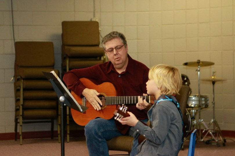 Dr James Cline Guitar Lessons for Kids in Denver.