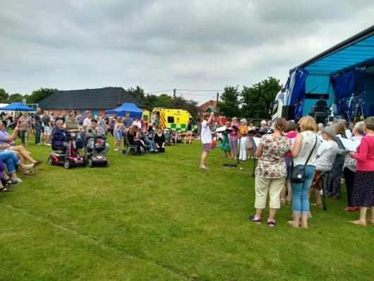Performing at Totton Family Fun Day