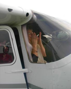 pamela's 50th birthday plane ride