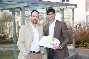 Thomas und Wolfgang | Geschenk Baby Geburt Schild Storch Klapperstorch