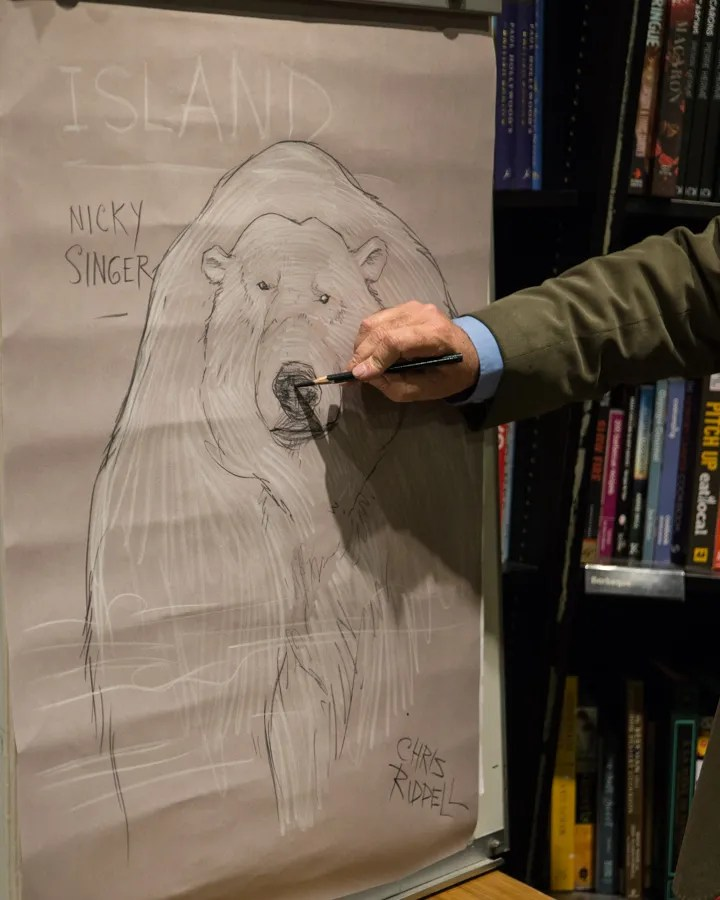 the auctioned live-drawn  illustration