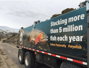 Fish-stocking truck
