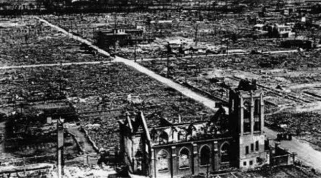 Hiroshima depois da bomba - Foto: Domínio público