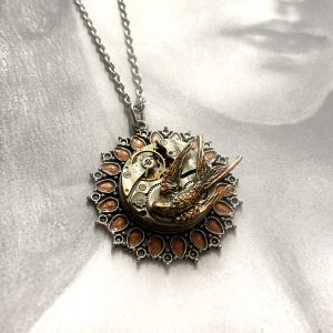 Steampunk Sparrow Necklace