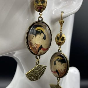 Guadalupe Santa Muerte earrings
