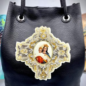 Virgin Mary Black bag