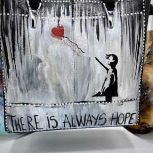 There is always hope Borsa dipinta a mano
