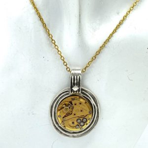 Gold Mechanism Necklace