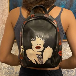 Hand painted back pack Valentina by Crepax
