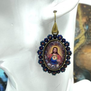 Jesus and Mary earrings