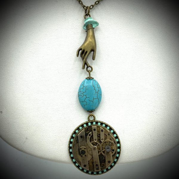 Turquoise Steampunk NecklaceTurquoise Steampunk Necklace