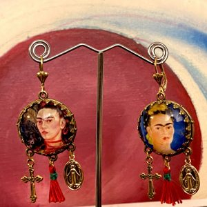 Frida Kahlo Mexican earrings