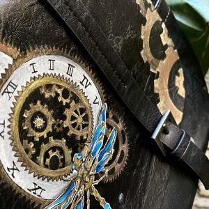 Steampunk hand painted bag