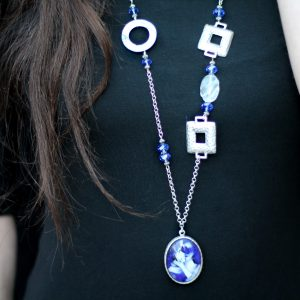 Chagall Blue Lovers Necklace