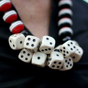Necklace with dice