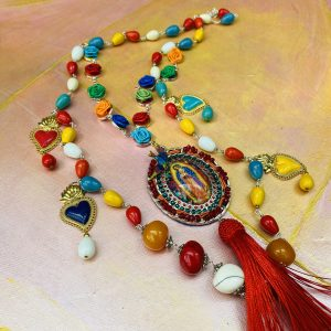 Multicolored Necklace Our Lady of Guadalupe