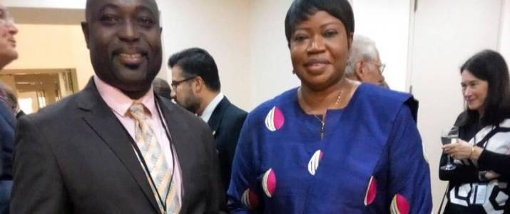 ACILA Exec Director With ICC Prosecutor Fatou Bensouda