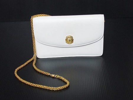セリーヌ CELINE ホワイト皮革 2wayチェーンバッグ 437159