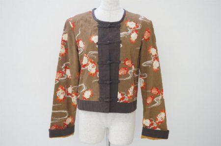 中華風のデザインが新鮮なワンダフルワールドの花柄ジャケットを買い取りました