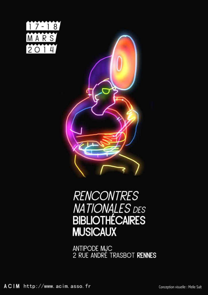 Cartel Rencontres Nationales des Bibliothécaires Musicaux