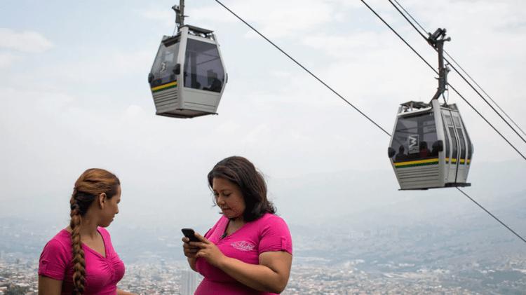 Linbanan i Medellín en klimatsmart succé för pendlare