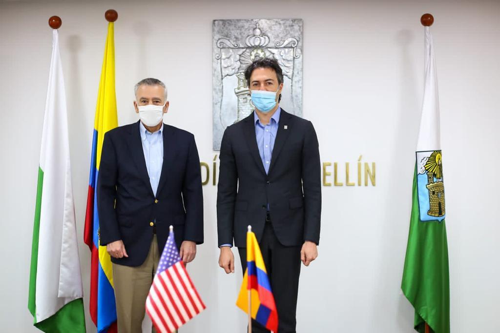 Medellín estrecha relaciones de cooperación con los Estados Unidos